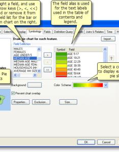 The panel for setting pie chart layer properties also using charts  help arcgis desktop rh desktopcgis
