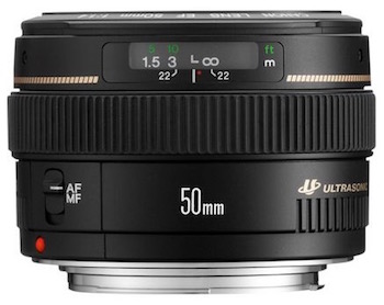 Canon EF 50mm f1.4 prime lens