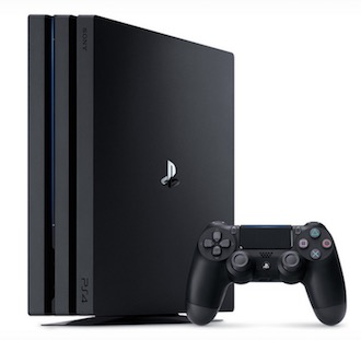 Image of a Playstation 4 and its controller