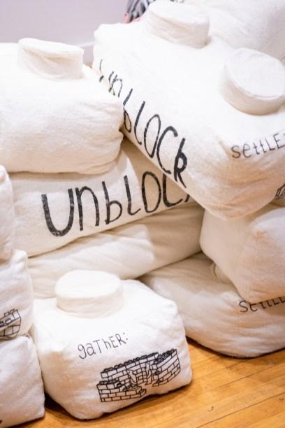 """Unblocked"" by Grace Zajdel, BFA Show 2, Des Lee Gallery, Washington University, St. Louis, MO"