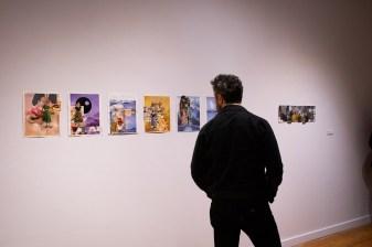 """don't look at me (float)"", by Allison Hamburg, BFA 2 Show, Des Lee Gallery, Washington University, St. Louis, MO"