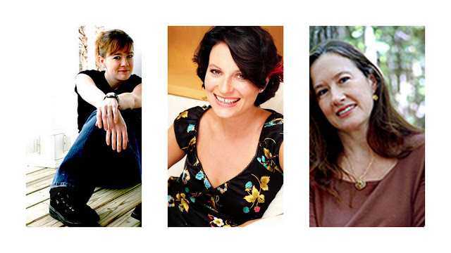 Photo des autrices Cate Tiernan, Maggie Stiefvater et Meg Cabot