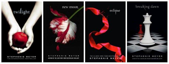 Couvertures anglophones de la saga Twilight