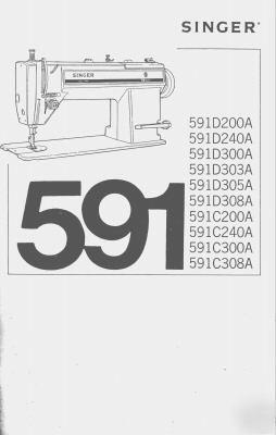 Singer 591 industrial sewing machine owner manual