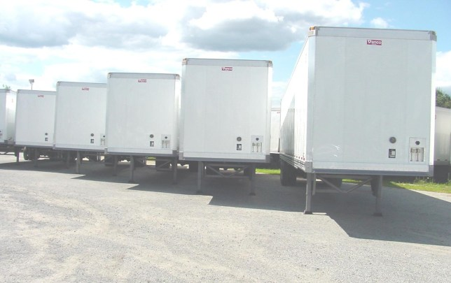 Trailers in a row