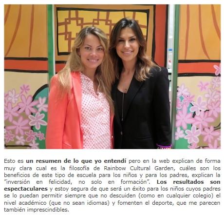 CARLA GOYANES Y RAQUEL PERERA (Mujer de Alejandro Sanz)