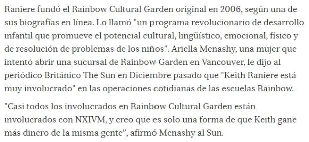 KEITH RANIERE, LIDER SECTA NXIVM Y CREADOR DE LOS CENTROS RAINBOW CULTURAL