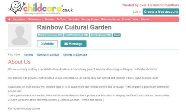 Rainbow Cultural Garden Center en el Reino Unido