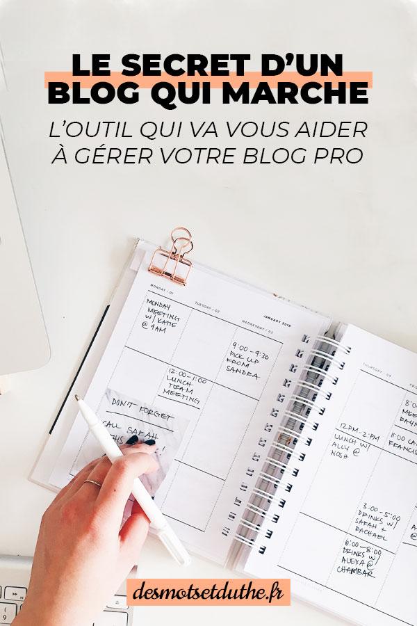 Calendrier éditorial pour blog