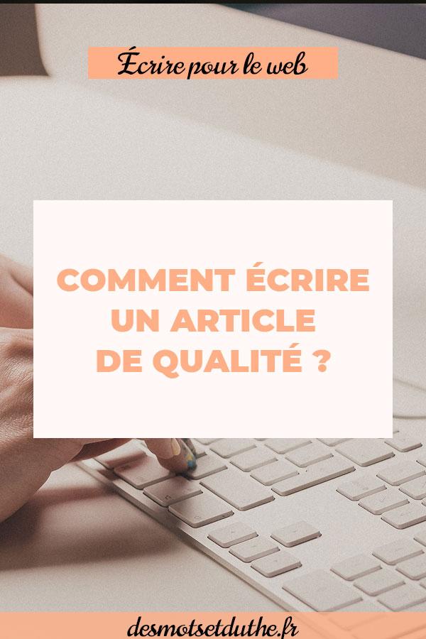 Comment écrire un article de blog de qualité ? Découvre mes astuces blogging