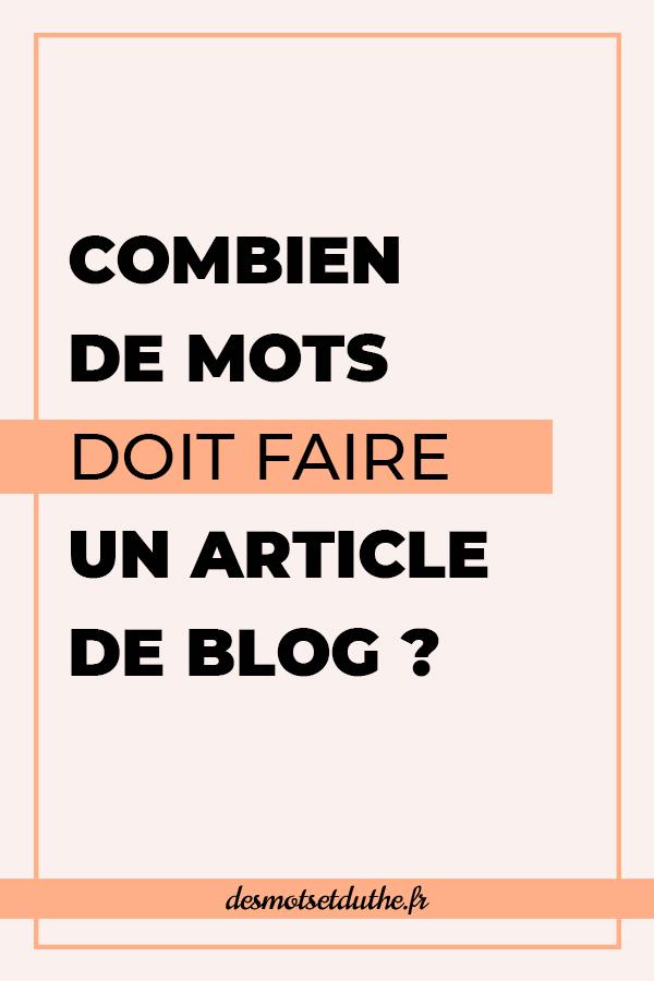 Combien de mots doit faire un article de blog ?