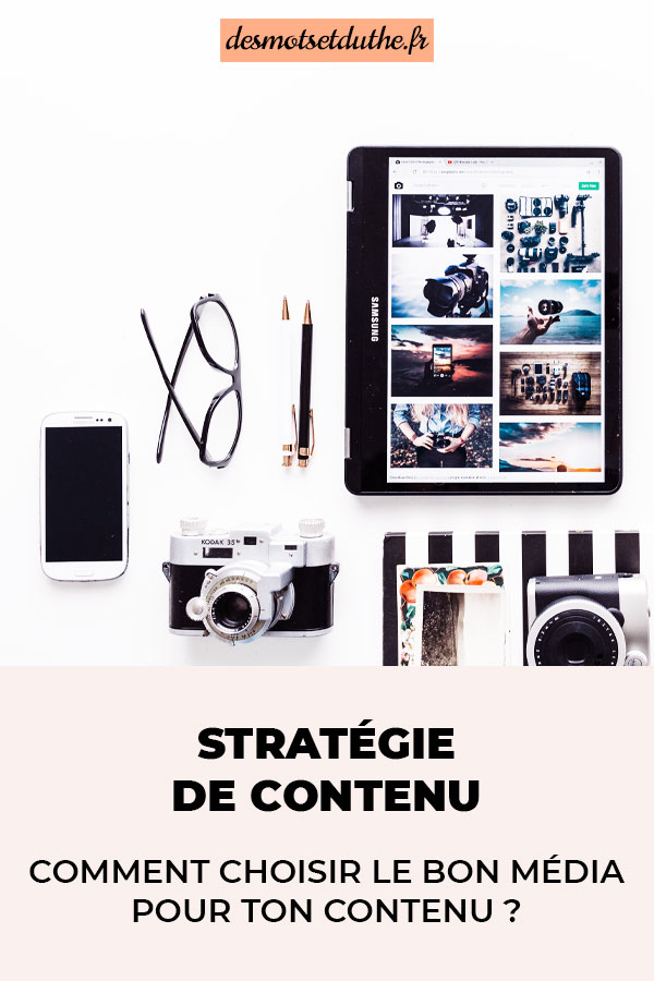 Stratégie de contenu : comment choisir le bon média pour ton contenu ?