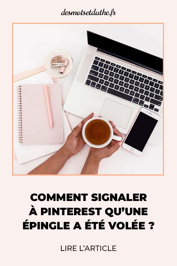 Comment signaler à Pinterest qu'une épingle a été volée ?