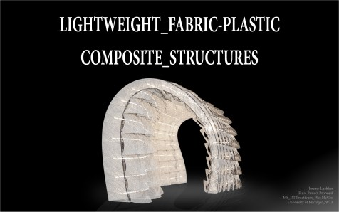 research proposal, extruded plastic, fabric structures, MSDT, University of Michigan, Digital Fabrication