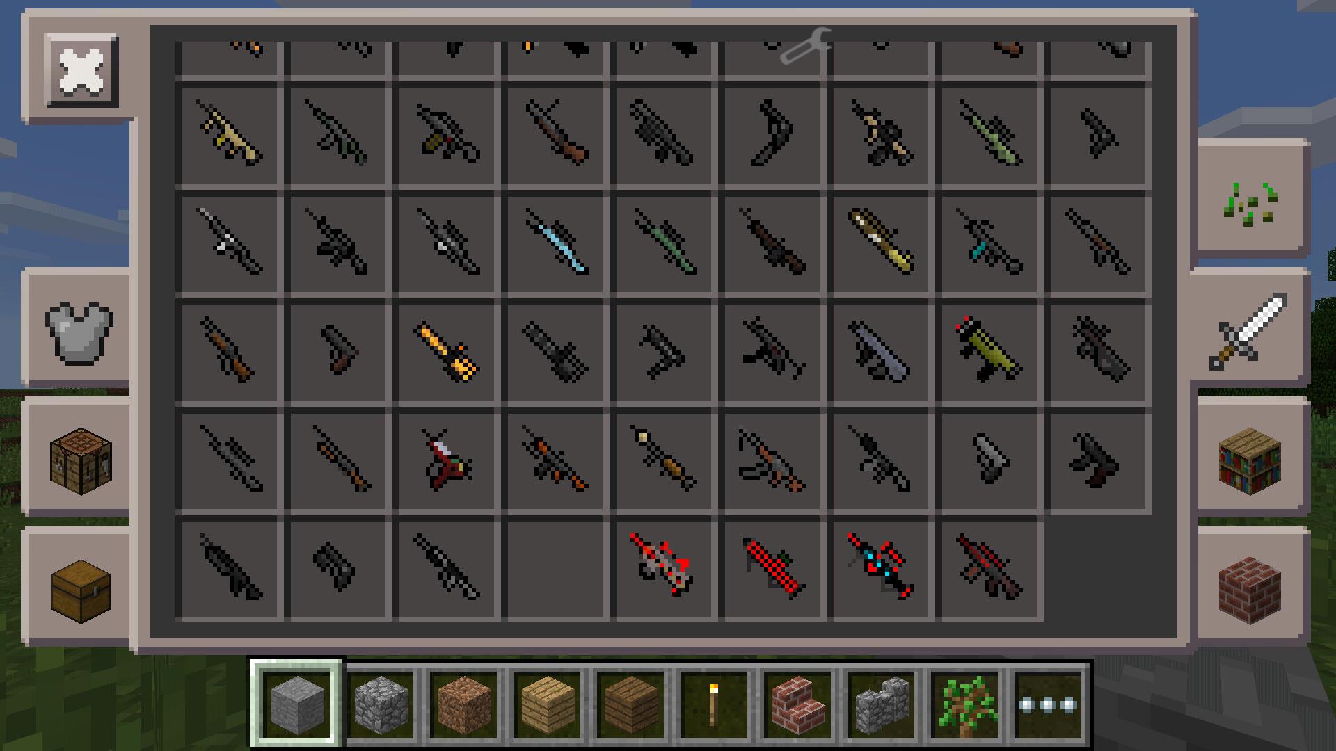 мод на оружие в майнкрафт 0.14.0