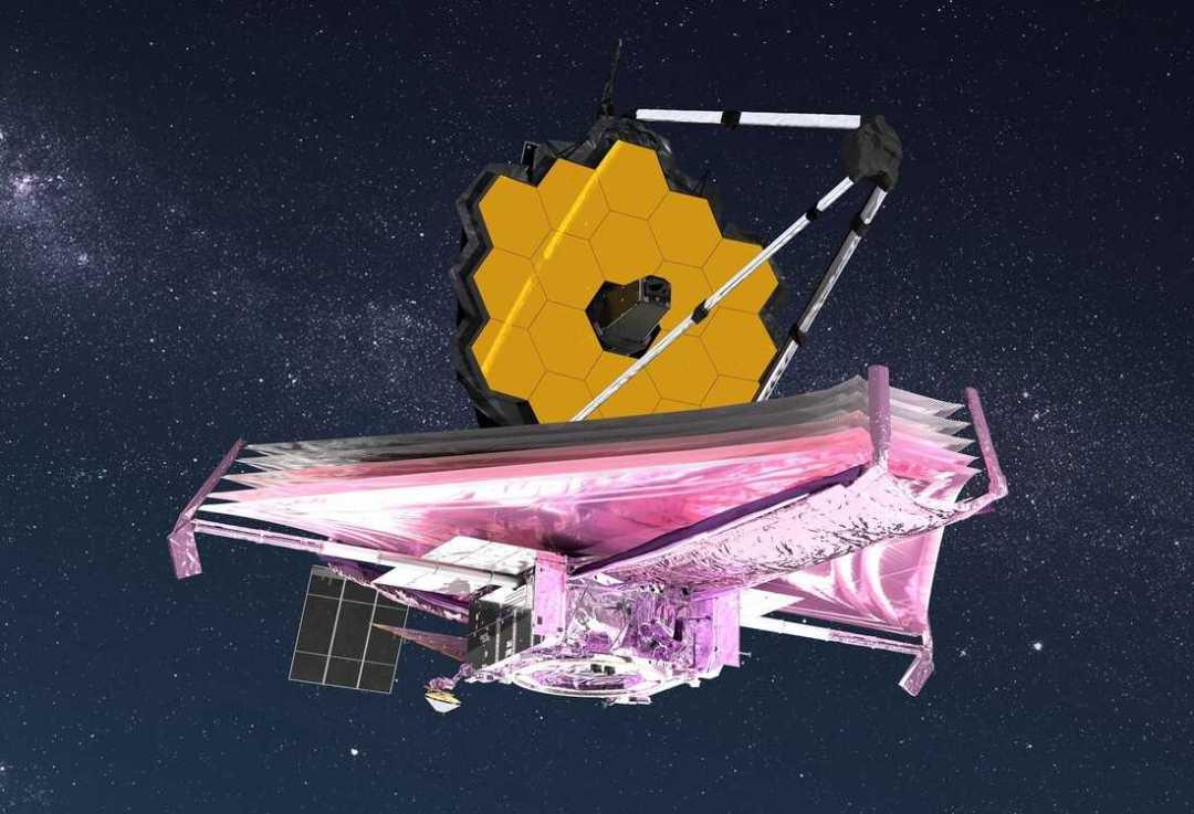 TK Concepción artística del telescopio espacial James Webb