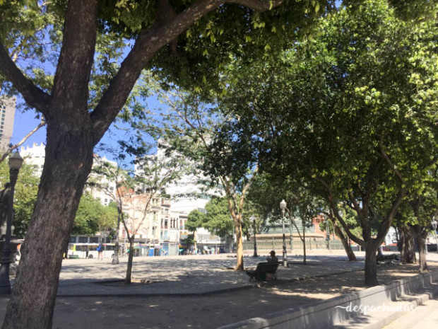 Praça Tiradentes - Passeio de bicicleta no Rio de Janeiro
