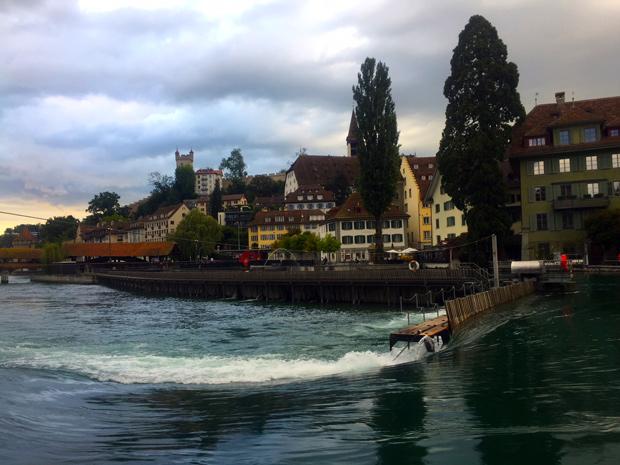 O que fazer em Lucerna, Suiça. Barragem de madeira