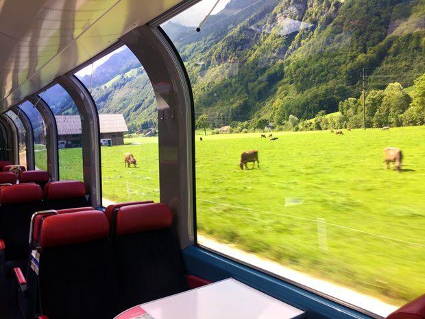trens panorâmicos na Suiça estão incluídos no Swiss Travel Pass
