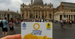 Omnia Card para acesso aos museus e transporte público de Roma