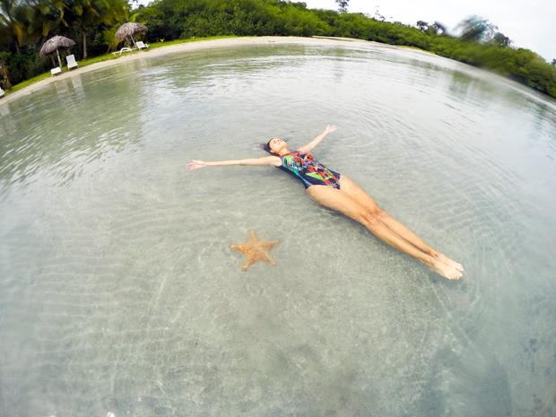 Estrela do Mar na Playa Estrella em Bocas del Toro