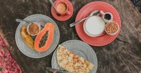 Restaurante em Caraíva Café da manhã no Maria Bahia, em Caraíva
