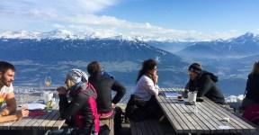 restaurante com vista em Innsbruck