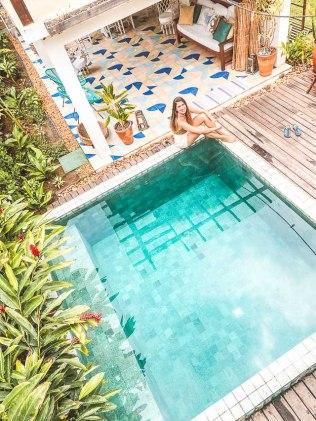 Onde ficar em Caraíva: Pousada Casa das Conchas - piscina