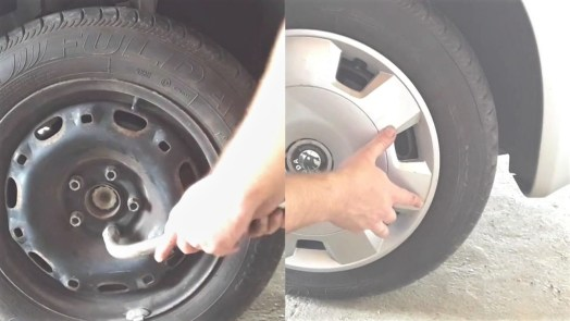 how-to-replace-a-sway-bar-link-tighten-tire-return-hubcap