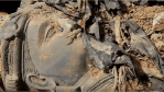 Sleeping Buddha Statues  in Trash For 'Safe Keeping' (Video)