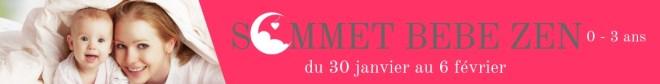 Sommet bébé zen du 30 janvier au 6 février bannière