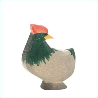 Ostheimer kip donker staand kop gedraaid