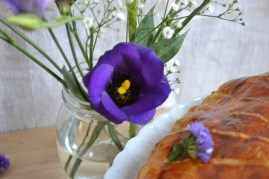 fleur de Lisianthus violette