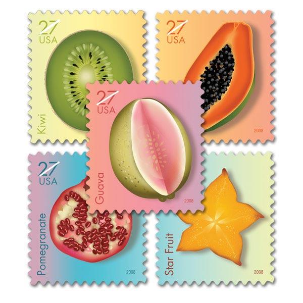 "U.S.P.S. ""Tropical Stamps"" Set"
