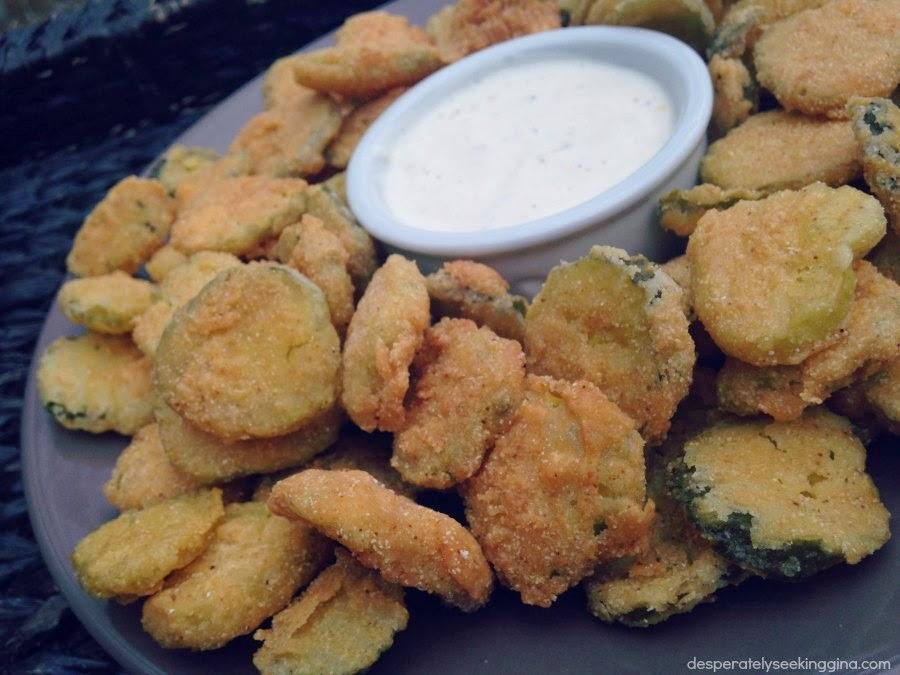 Fried Pickles via Desperately Seeking Gina
