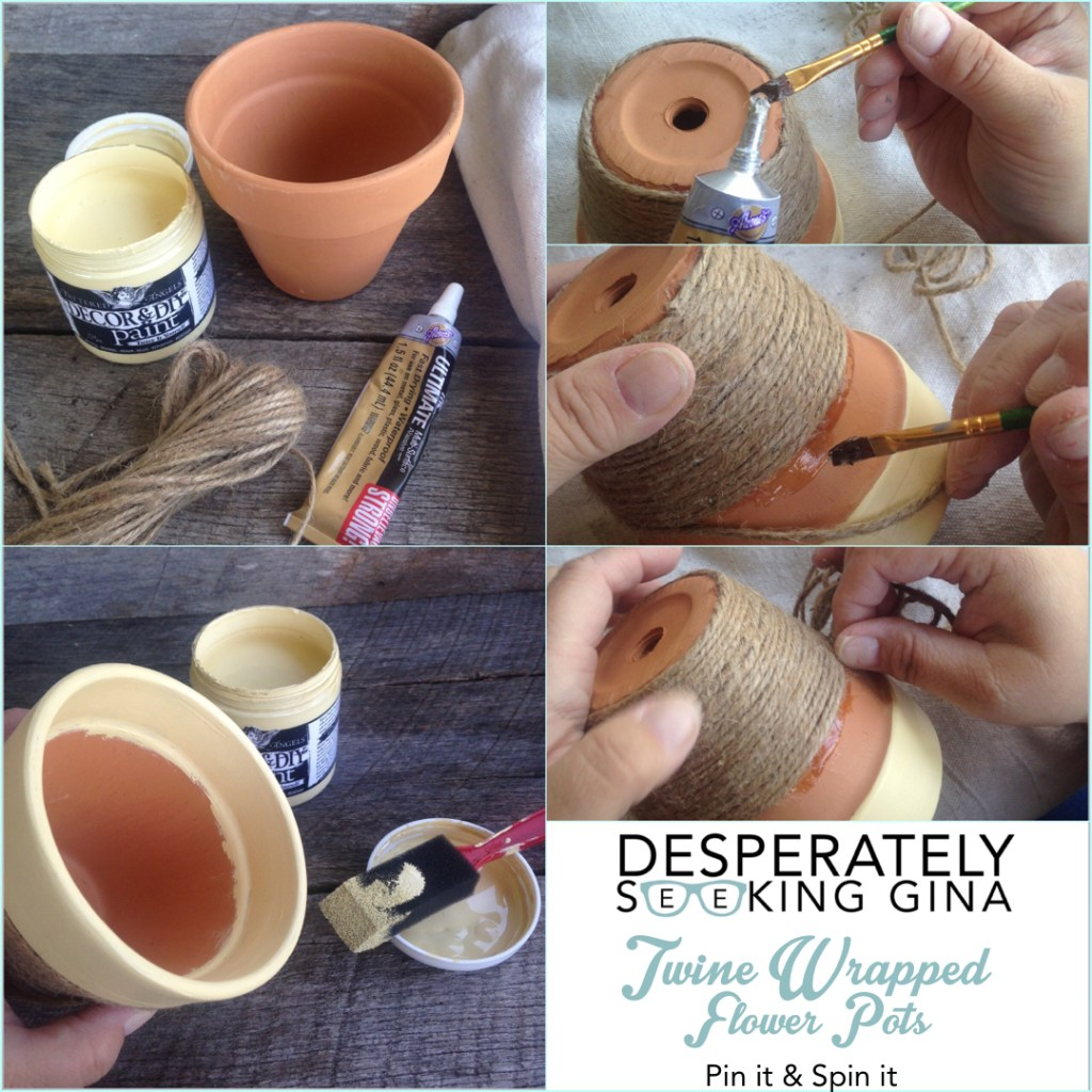 Twine Wrapped Flower Pot How-To