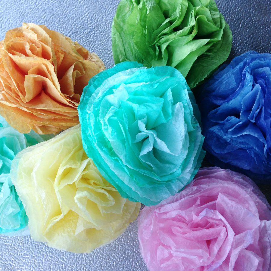 Dyed Coffee Filter Flowers | Desperately Seeking Gina