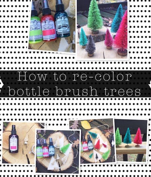 How To Re-Color Bottle Brush Trees