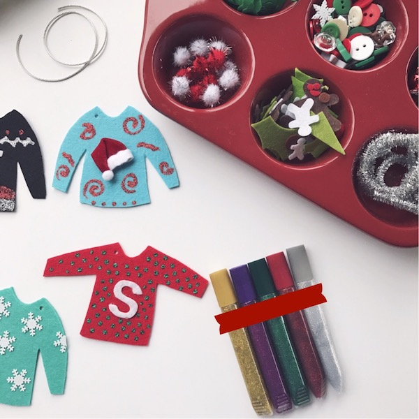 No Sew Ugly Sweater Ornament