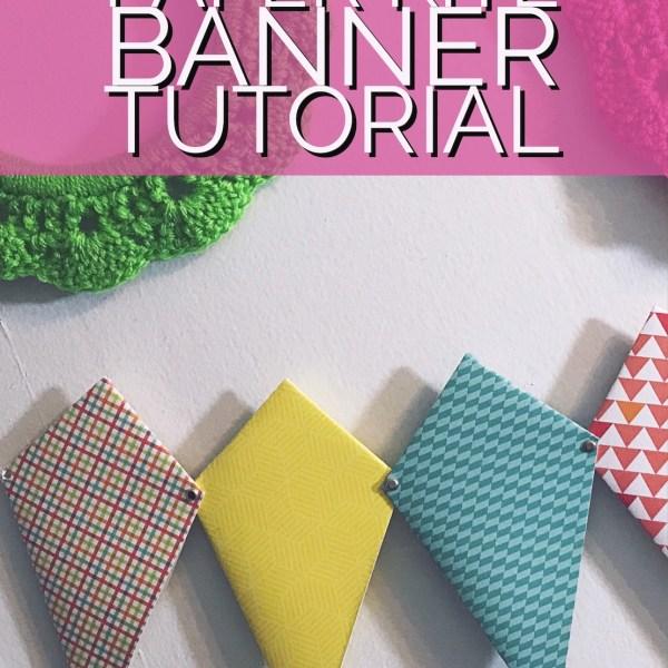 Paper Kite Banner Tutorial