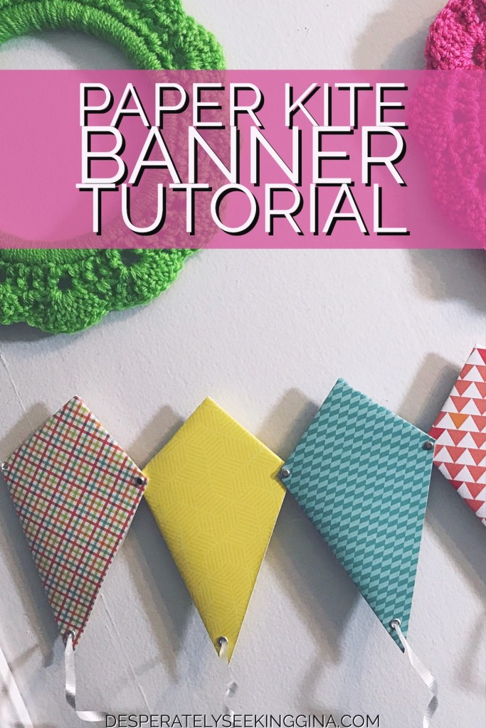 Paper Kite Banner Tutorial via Desperately Seeking Gina