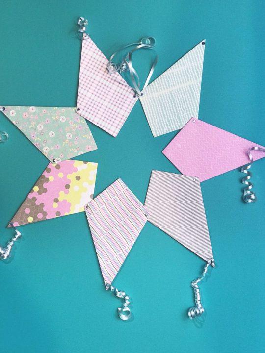 Paper Kite Banner Tutorial via Desperately Seeking Gina