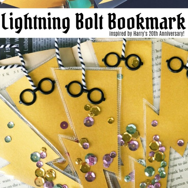 Lightning Bolt Bookmark Inspired by HP