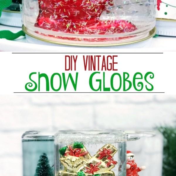 DIY Vintage Snow Globes