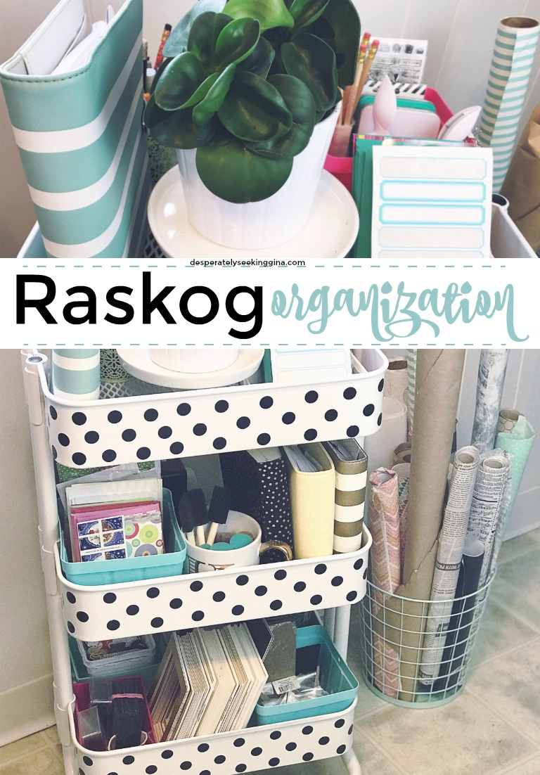 Raskog #organization #tips and tricks for a clean and organized #craftroom.