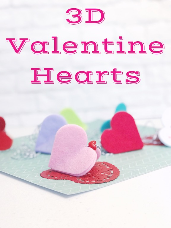 3D Valentine Hearts decorations for Valentine's Day.