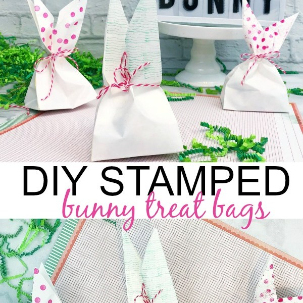 DIY Stamped Bunny Treat Bags