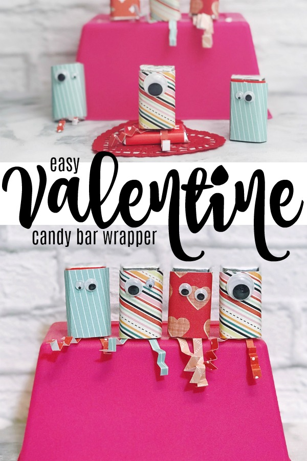 Easy Valentine Candy Bar Wrapper for classroom Valentines or kid's craft for Valentine's Day.