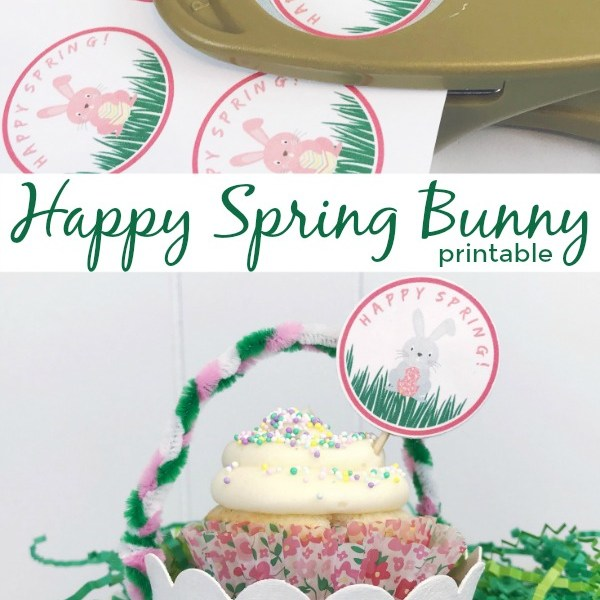 Happy Spring Bunny Printable