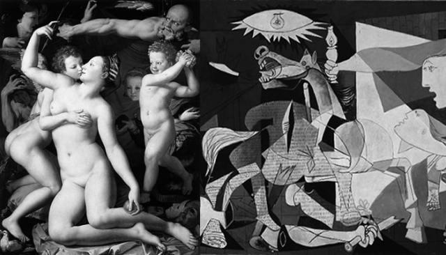Explicaciones de cuadros famosos: Alegoría del triunfo de Venus y Guernica